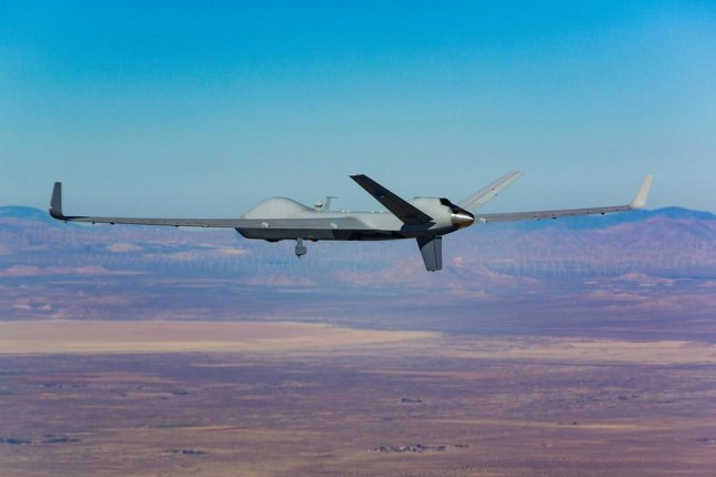Hughes' contract with General Atomics aims to improve data transfer capabilities for the SkyGuardian drone. Photo courtesy of General Atomics