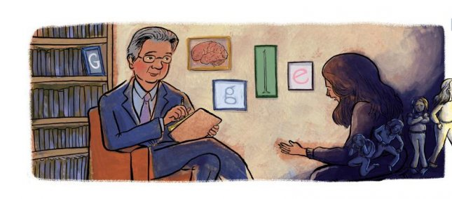 Google is paying homage to psychiatrist Dr. Herbet Kleber with a new Doodle. Image courtesy of Google