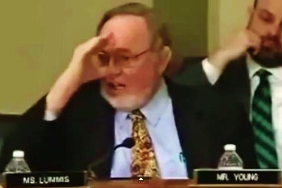 Rep. Don Young, R-Alaska, said lawmakers are thumbing their nose at the state of Alaska and its residents over federal protection of the Gray Wolf. March 5, 2015. Photo: The Washington Post