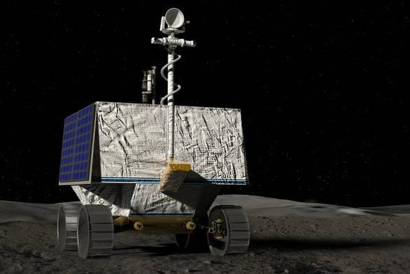 A NASA image depicts what the VIPER rover might look like on the surface of the moon. Image courtesy of NASA