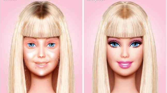 Before and After, Mexican designer presents Barbie without makeup CREDIT: Behance