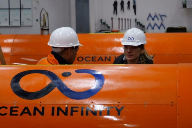 Ocean Infinity was using autonomous underwater vehicles to search for an Argentine navy submarine that went missing in the Atlantic Ocean last November. Photo courtesy of Ocean Infinity