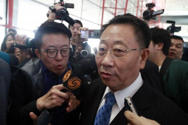 North Korea's chief nuclear negotiator Kim Myong Gil (R) said Thursday he is willing to meet with U.S. special envoy on North Korea Stephen Biegun. File Photo by Yonhap/EPA-EFE