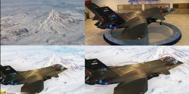 fake stealth plane iran photoshops super jet jet still can t fly
