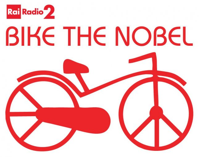 Italian radio station Rai Radio 2 has launched the Bike the Nobel campaign in order to collect signatures to nominate the bicycle for the 2016 Nobel Peace Prize.  Photo by Rai Radio 2/Caterpillar blog