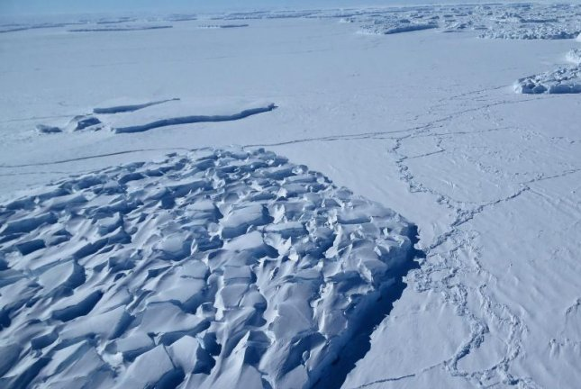 As Antarctic ice sheets melt, methane is likely to be released. But new research suggests hungry microbes could prevent the gas from entering the atmosphere. Photo by Jim Yungel/NASA