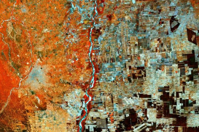 The land surrounding Santa Cruz, Bolivia, once heavily forested, is now a patchwork of farms. Photo by ESA/Copernicus Sentinel