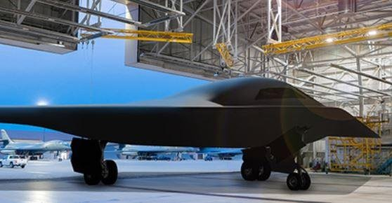 Construction of the first B-21 Raider stealth bomber remains on schedule, a U.S. Air Force official said on Thursday. Photo courtesy of Northrop Grumman