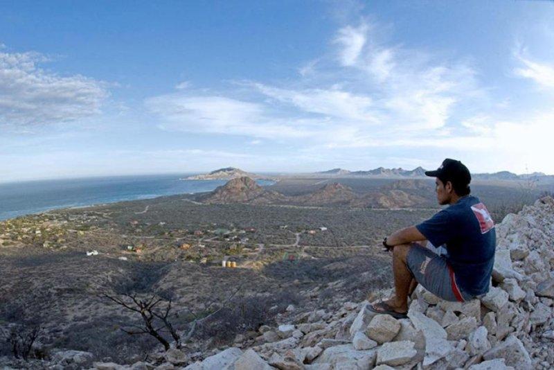 A local overlooks his home, the coastal community of Cabo Pulmo. (UC-Riverside/Octavio Aburto)