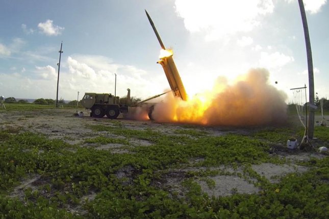 THAAD conducting a test launch of an interceptor. Photo courtesy of the Missile Defence Agency.