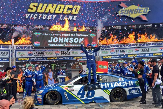 Jimmie Johnson earned his first victory of the year but seventh overall at Texas Motor Speedway on Sunday. Photo courtesy Texas Motor Speedway via Twitter