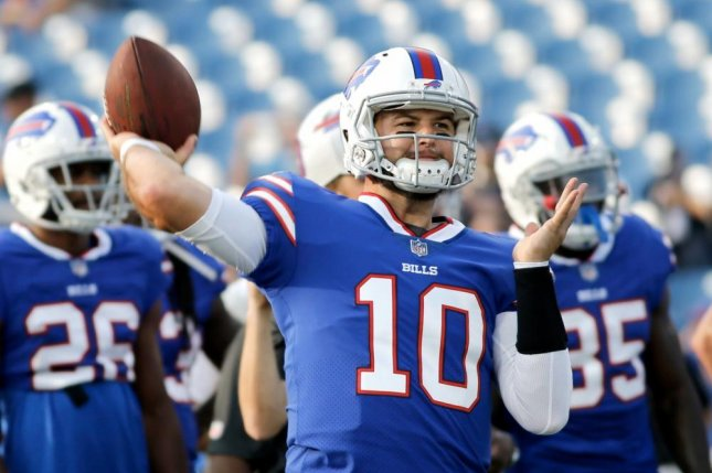 Buffalo Bills quarterback A.J. McCarron joined the team this offseason from the Cincinnati Bengals. Photo courtesy of the Buffalo Bills/Twitter