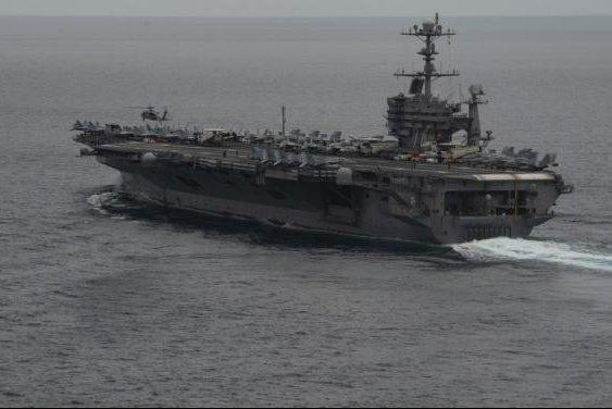 Nuclear-powered Nimitz-class aircraft carrier John C. Stennis. Photo by Petty Officer 3rd Class Connor Loessin/USS John C. Stennis