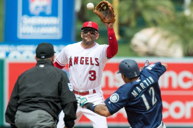 The Los Angeles Angels scored seven runs in the bottom of the ninth to rally and beat the Seattle Mariners. Photo courtesy LA Angels via Twitter