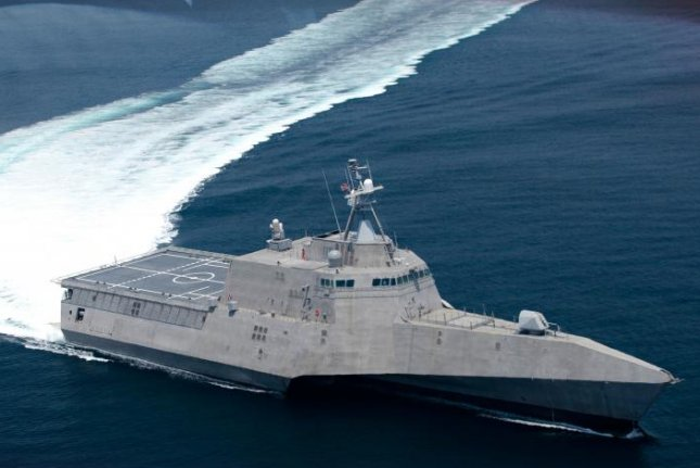 This is an artist's rendering of the USS Oakland, which is under construction at Austal's Shipyard in Mobile. Image courtesy of the U.S. Navy
