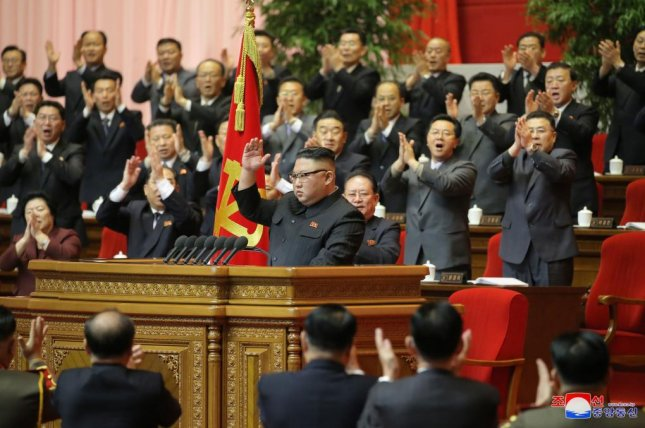 North Korean leader Kim Jong Un called for a powerful nuclear weapons program and economic development in his closing address to a party congress, state media reported Wednesday. Photo by KCNA