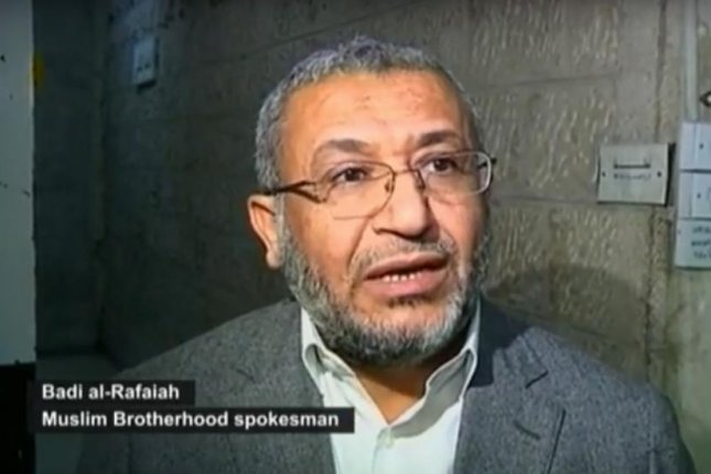 Jordanian police shuttered the Muslim Brotherhood headquarters. Badi Rafaya, a Muslim Brotherhood spokesman, said the move was illegal. Screenshot courtesy of Euronews