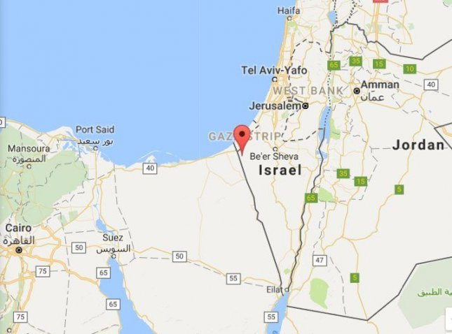 Two rockets fired from the Sinai Peninsula landed harmlessly in Israel, one near the village of Neveh, the Israeli military said Monday. An Islamic State affiliate known as the Sinai Province is believed responsible for the attack. Image courtesy of Google Maps