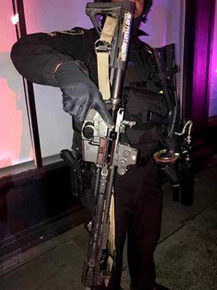 Police in Portland said they have confiscated weapons from protesters including a rifle, hammers and an explosive device. Photo courtesy of Multnomah County Sheriff's Office/Twitter