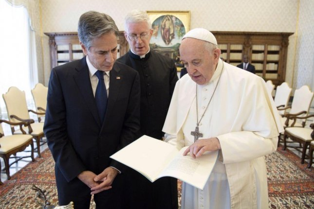 Blinken the first from Biden's Cabinet to meet with Pope Francis at Vatican