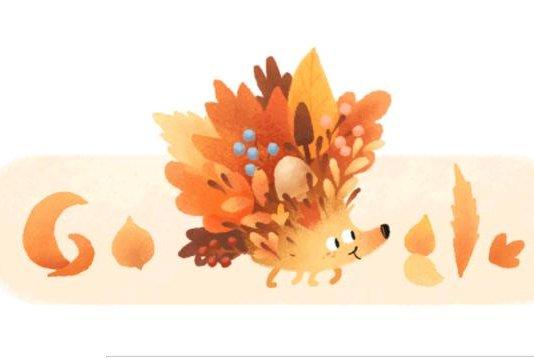 Google celebrates the start of autumn with a new doodle. Photo courtesy of Google