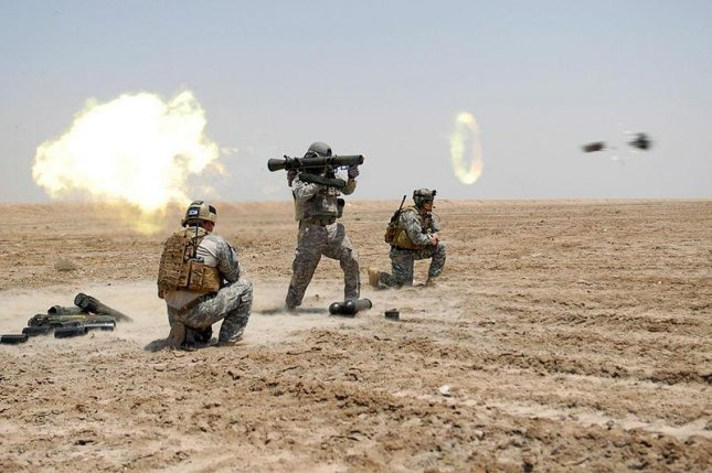 A Carl-Gustaf recoilless rifle is fired by U.S. troops. U.S. Army photo by Spc. William Hatton.