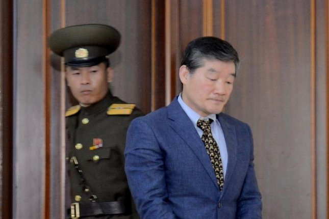 U.S. citizen Kim Dong Chul was tried and convicted of spying and sending North Korean state secrets to the South. File Photo screenshot of KCTV