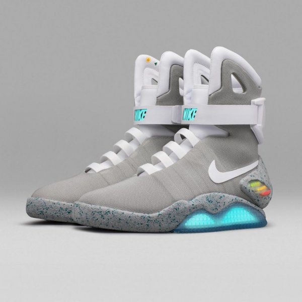 more photos 58555 0a58b Nike is raffling off 89 pairs of the Back to the Future-inspired self-lacing  Nike Mag shoes in an online lottery. Photo courtesy of Nike