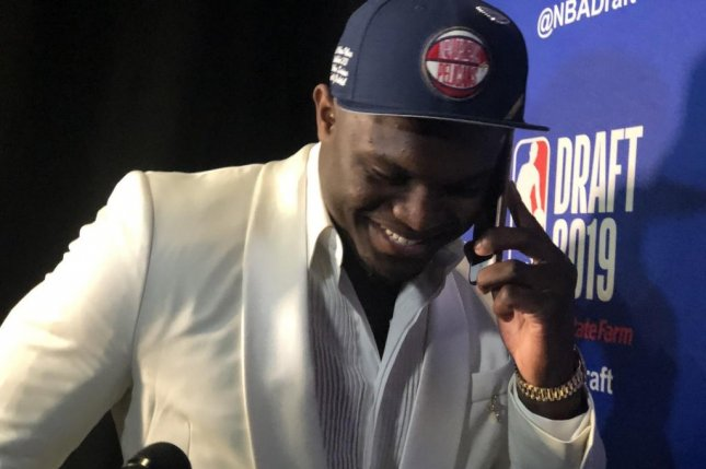 Former Duke forward Zion Williamson was the No. 1 overall pick in Thursday's NBA Draft. Photo courtesy of PelicansNBA/Twitter