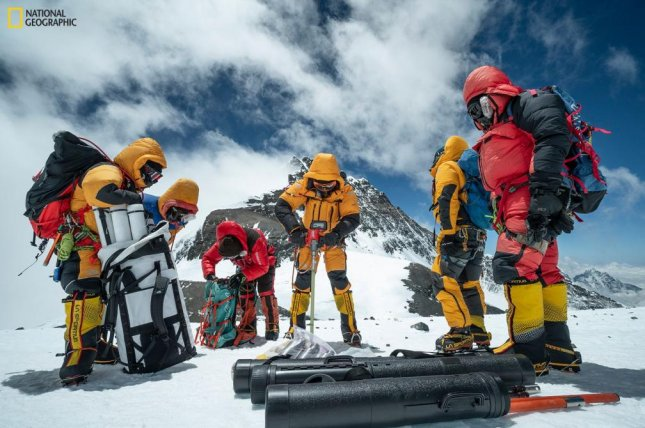 Researchers collected ice cores from elevations as high as 26,400 feet above sea level during the National Geographic and Rolex Perpetual Planet Everest Expedition in the spring of 2019. Photo by Dirk Collins/National Geographic