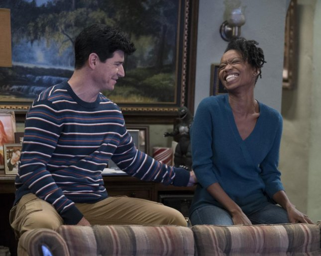 Michael Fishman and Maya Lynne Robinson play D.J. and Geena on The Conners, which is set to debut Oct. 16. Photo courtesy of ABC.