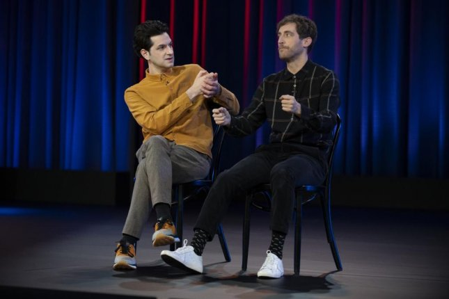 Thomas Middleditch (R) and Ben Schwartz star in Middleditch & Schwartz, a series of comedy specials coming to Netflix in April. Photo courtesy of Netflix
