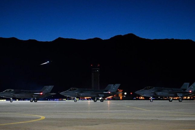 F-35A Lightning II's await to taxi at Hill Air Force Base in Utah May 20. Photo by R. Nial Bradshaw/U.S. Air Force Base