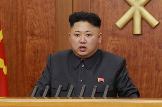 North Korea's Kim Jong Un sent holiday cards to state leaders, according to Pyongyang's news agency. File Photo by KCNA