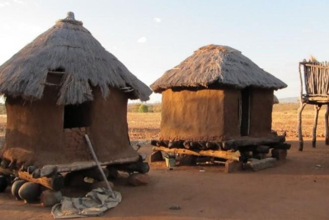 Modern clay huts in South Africa, similar to the ones that were ritualistically burned during the Iron Age. Photo by University of Rochester/Tarduno