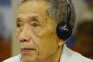Kaing Guek Eav, known as Comrade Duch, was sentenced to life imprisonment on Feb. 3, 2012, for committing crimes against humanity. Photo courtesy of the Extraordinary Chambers in the Courts of Cambodia/Website