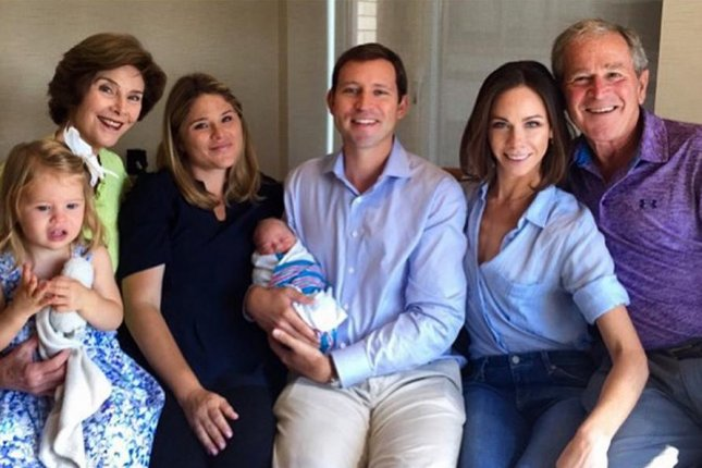 bush family photo includes new addition poppy louise hager
