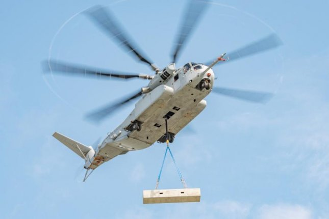 Sikorsky's CH-53K military helicopter lifts a 27,000-pound payload. Photo courtesy Lockheed Martin