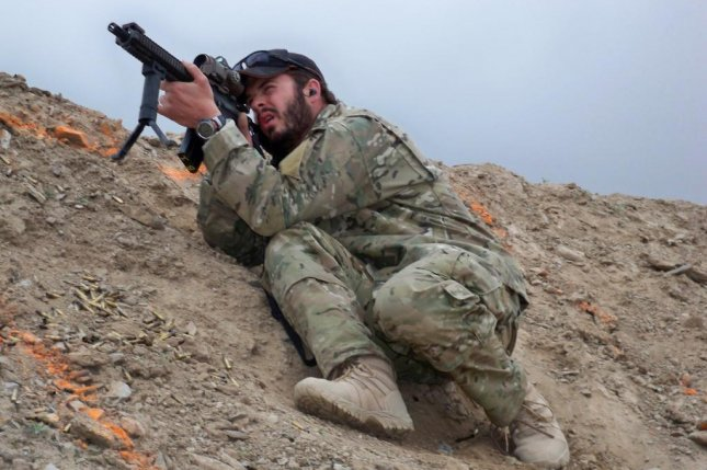 Then-U.S. Army Sgt. Matthew Williams conducts long-range weapons training at Camp Morehead, Afghanistan, in 2009. File Photo courtesy of Master Sgt. Matthew Williams