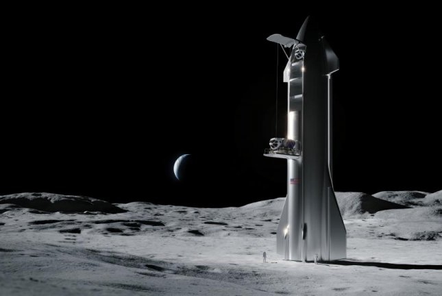 SpaceX was one of the five companies selected to join NASA's Commercial Lunar Payload Services program. The company and its lunar lander Starship will compete to deliver heavy scientific and technology payloads to the moon's surface as part of the space agency's Artemis program. Photo by NASA/SpaceX
