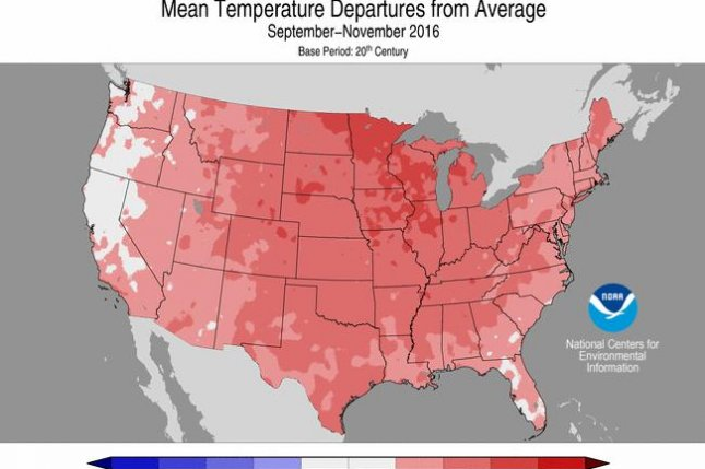 Warmer than usual November temperatures were most obvious in the Upper Midwest. Photo by NOAA/NCDC