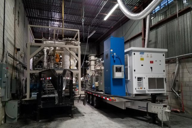 The mobile chemical warfare agent destruction system, announced by Southwest Research Institute, can clear chemical weapons in both wet and dry situations. Photo courtesy Southwest Research Institute