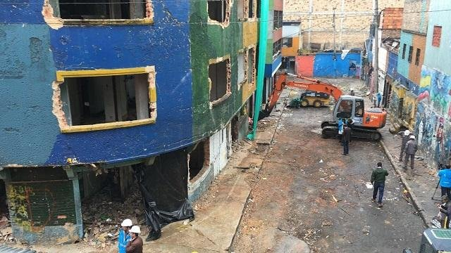 Government officials in the city of Bogota on Wednesday demolished a large part of a neighborhood known as the Bronx that had been taken over by criminality. The mayor of Bogota hopes to revitalize the center into a thriving community. Photo courtesy of Mayor of Bogota