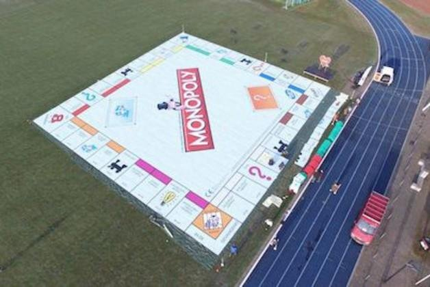 The world's largest Monopoly board in the Netherlands. Photo courtesy of Guinness World Records