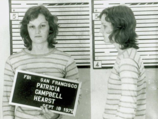 Mugshot of Patty Hearst upon her arrest in San Francisco on September 18, 1975. Photo courtesy FBI