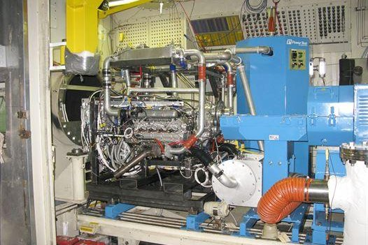 A new high efficiency diesal engine developed by the Air Force could allow aircraft to operate on diesel, Jet-A or JP-8 fuels, meaning whatever fuel is available is acceptable -- reducing the cost and risk of shipping specialized fuels. U.S. Air Force photo