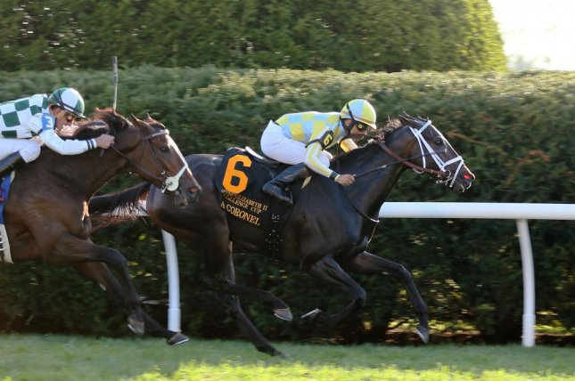 La Coronel takes Saturday's Grade I Queen Elizabeth II Challenge Cup at Keeneland. Photo courtesy of Keeneland