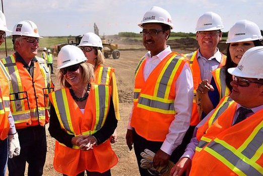 Alberta Premier Rachel Notley hails the start of construction of an Enbridge oil pipeline feeding U.S. states as representatives gear up for NAFTA negotiations. Photo courtesy provincial government of Alberta