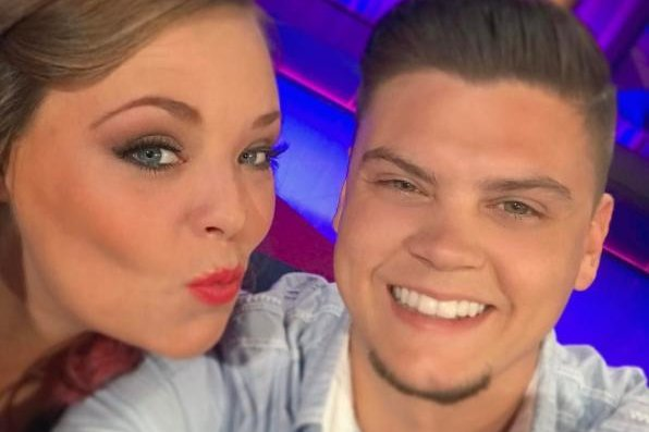 Catelynn Lowell (L) and Tyler Baltierra on April 18. The couple celebrated their second wedding anniversary Tuesday. Photo by Tyler Baltierra/Instagram