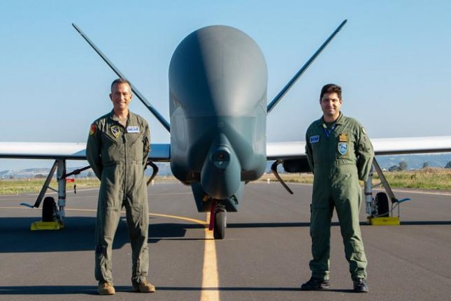 NATO has received the fifth and last NATO Alliance Ground Surveillance aircraft in Sigonella, Italy. Photo courtesy of NATO AGS Force